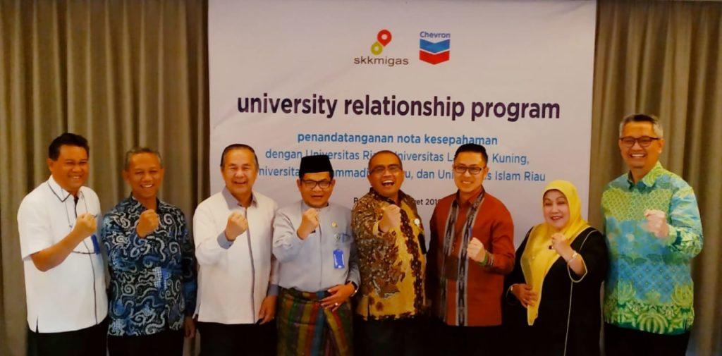 Dukung Peningkatan Akreditasi Jurusan, PT CPI Teken MoU dengan Empat Universitas di Riau