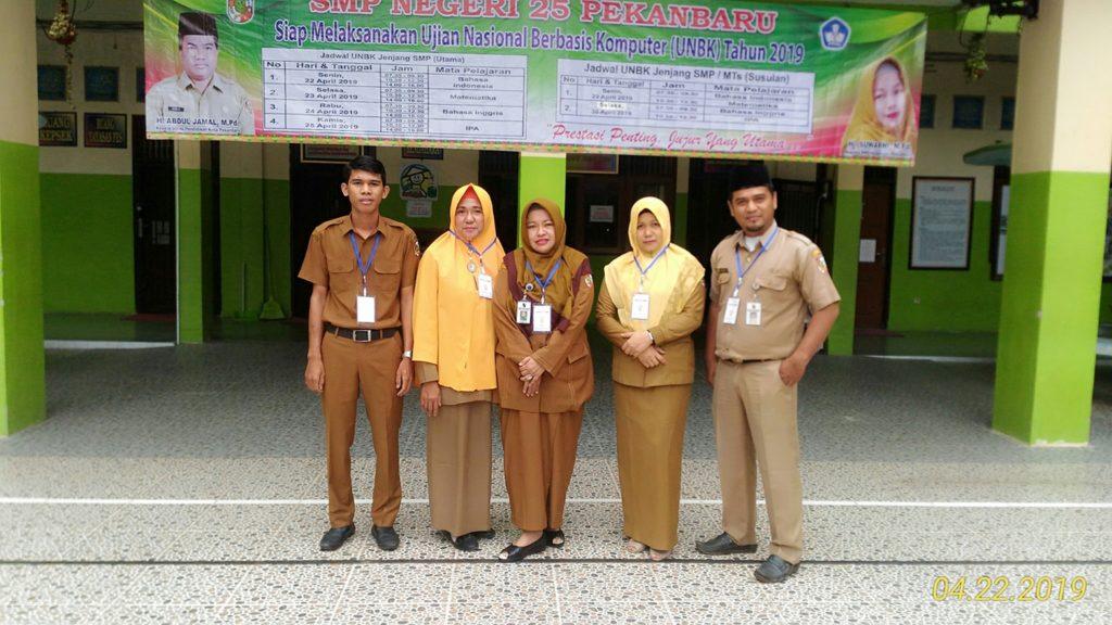 Pelaksanaan UNBK SMPN 25 Hari Pertama Berjalan Lancar, Siswa Hadir 100 Persen