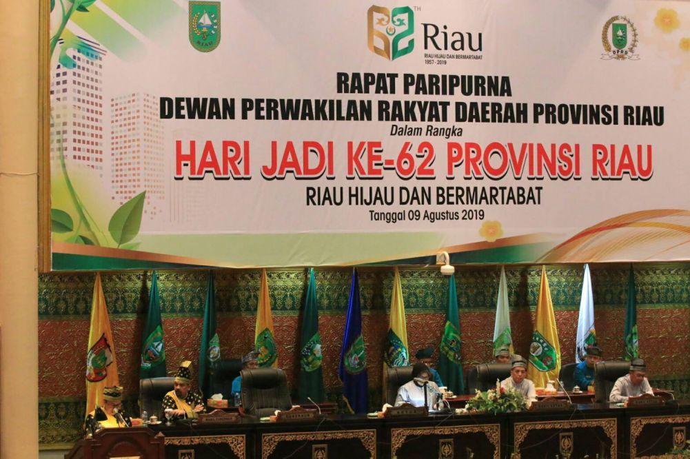 Gubri Ungkap Prestasi di Paripurna HUT Riau