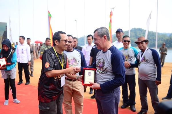 Gubri Hadiri Kampar Internasional Dragon Boat Festival 2019 di Venue Danau Rusa Kabupaten Kampar
