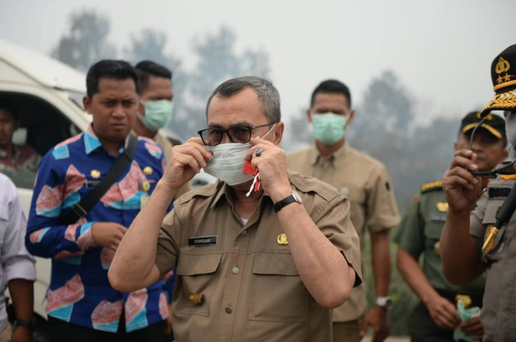 Gubri H. Syamsuar Tinjau Karhutla di Pelalawan, Terima Kasih Tim Satgas
