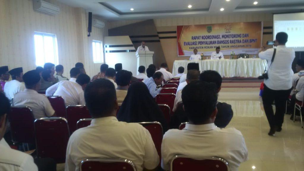 Bupati Rohil H. Suyatno Buka Rapat Koordinasi Pembinaan Tagana