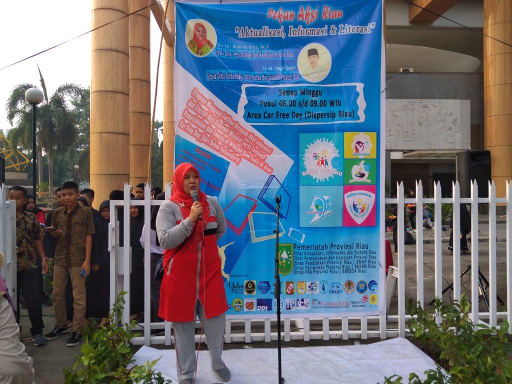 Luar Biasa Memukau Penonton Penampilan Kreatifitas Siswa SMPN 6 yang di Taja Diskominfo dan Dispersip Riau