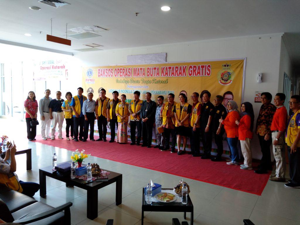 Lion Club Distrik 307 A2 Pekanbaru Riau Gelar Baksos Operasi Mata Buta Katarak Gratis