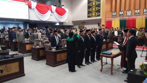 Rapat Paripurna Acara Peresmian dan Pengucapan Sumpah Janji Pimpinan DPRD Kota Pekanbaru Masa Jabatan 2019-2024