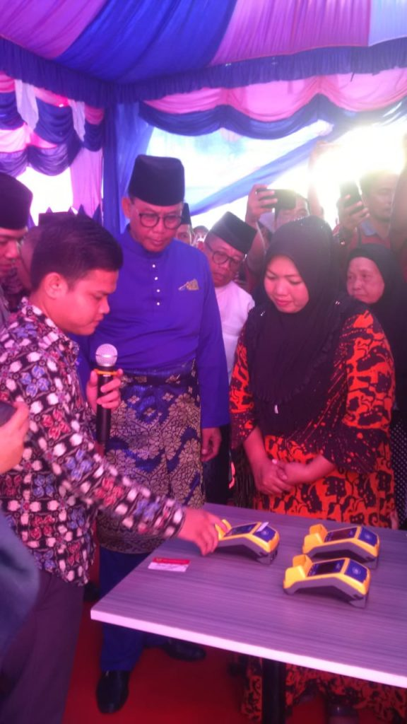 Launching E-Warung Bantuan Penerima Non Tunai (BPNT) Diserahkan Bupati Rokan Hilir
