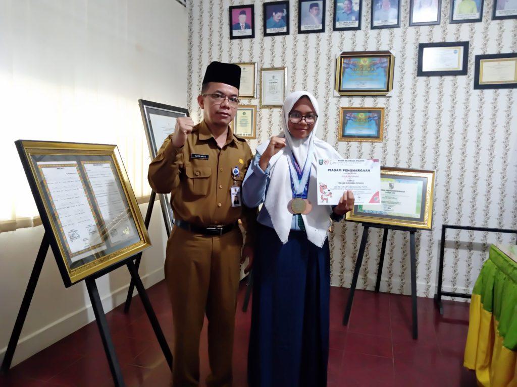 Diva Anggraini Siswi SMPN 13, Sabet 3 Medali Pada Kejuaraan Porwil se-Sumatera di Bengkulu