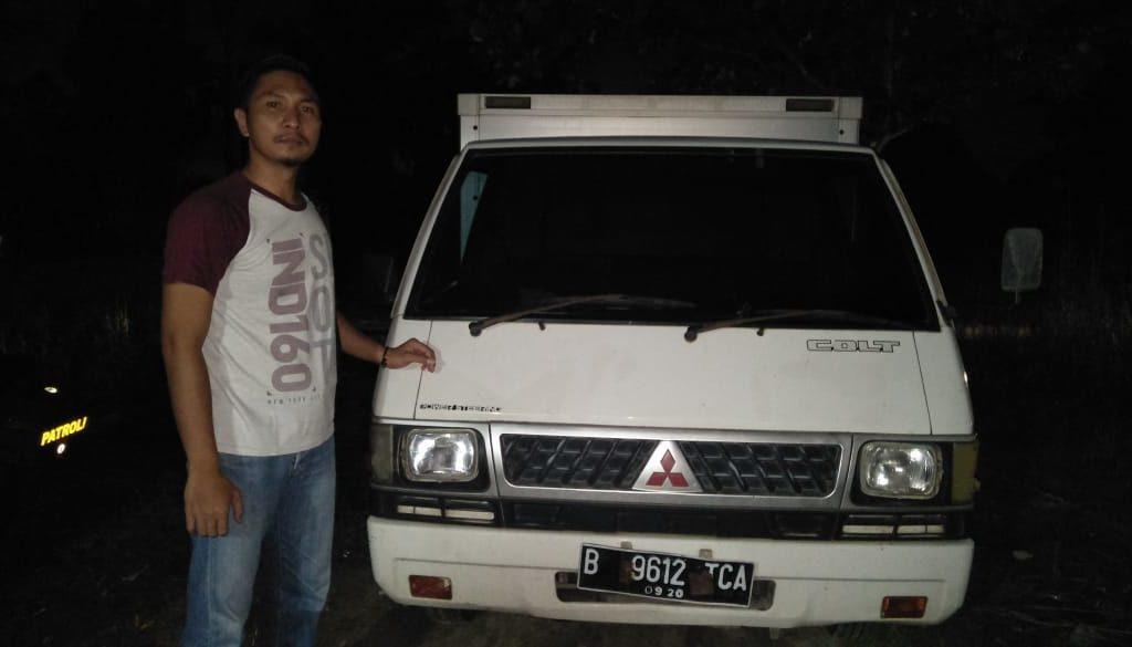 Sempat Dilarikan Pencuri, Mobil Box Pembawa Rokok Ditinggal Pelaku di Wilayah Siak Hulu
