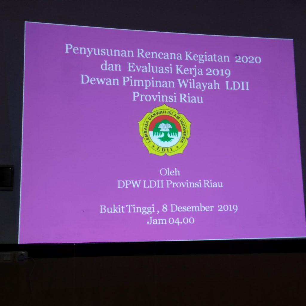 DPW LDII Riau Rumuskan Program Kerja 2020 di Kota Bukit Tinggi